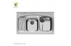 سینک ظرفشویی روکار اخوان کد 144 (100cm×60cm)