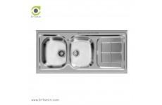 سینک ظرفشویی روکار اخوان کد 146 (120cm×60cm)