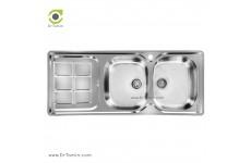 سینک ظرفشویی توکار اخوان کد 147 (120cm×50cm)
