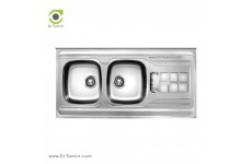 سینک ظرفشویی روکار اخوان کد SP 151 (120cm×50cm)