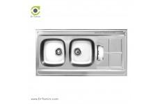 سینک ظرفشویی روکار اخوان کد SP 152 (120cm×60cm)