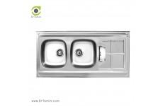 سینک ظرفشویی روکار اخوان کد SP 153 (120cm×50cm)