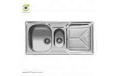 سینک ظرفشویی توکار اخوان کد 157 (100cm×50cm)