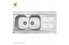 سینک ظرفشویی روکار اخوان کد 162 (120cm×60cm)