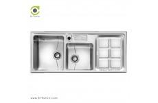 سینک ظرفشویی روکار اخوان کد 318s (120cm×52cm)