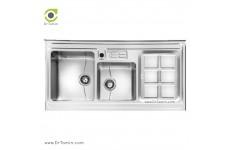 سینک ظرفشویی روکار اخوان کد 320s (120cm×60cm)