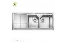 سینک ظرفشویی توکار اخوان کد 324 (120cm×52cm)
