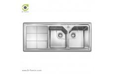 سینک ظرفشویی توکار اخوان کد 324s (120cm×50cm)