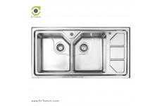 سینک ظرفشویی توکار اخوان کد 326 (100cm×50cm)