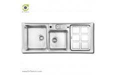 سینک ظرفشویی توکار اخوان کد 360 (120cm×52cm)