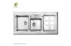 سینک ظرفشویی روکار اخوان کد 362 (120cm×60cm)