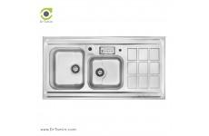سینک ظرفشویی روکار اخوان کد 364 (120cm×60cm)