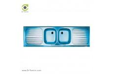 سینک ظرفشویی روکار اخوان کد A18050-2 (180cm×50cm)