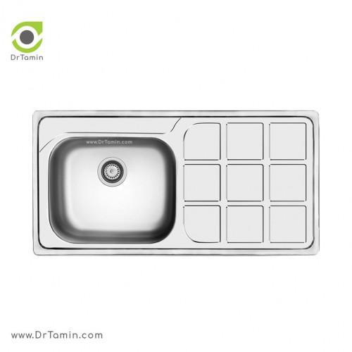 سینک ظرفشویی توکار کن مدل 7034 <br> ( 52×101 سانتیمتر)