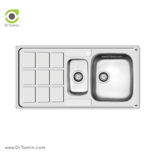 سینک ظرفشویی توکار کن مدل 7033 <br> ( 52×101 سانتیمتر)