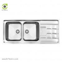سینک ظرفشویی توکار کن مدل 8022 <br> ( 50×116 سانتیمتر)
