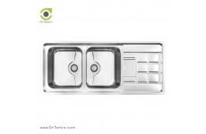 سینک ظرفشویی توکار کن مدل8022P (116×50 سانتیمتر)