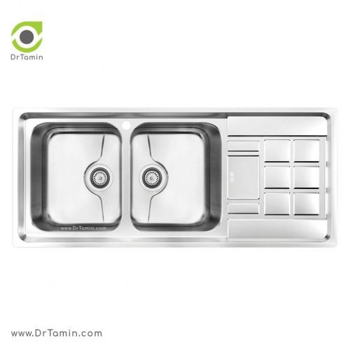 سینک ظرفشویی توکار کن مدل8022P <br> ( 116×50 سانتیمتر)