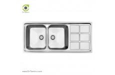 سینک ظرفشویی توکار کن مدل 8032 (50×116 سانتیمتر)