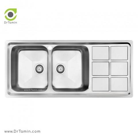 سینک ظرفشویی توکار کن مدل 8032   ( 50×116 سانتیمتر)