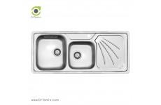 سینک ظرفشویی توکار کن مدل 9011 (52×121 سانتیمتر)