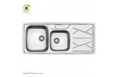 سینک ظرفشویی توکار کن مدل 9041 (52×121 سانتیمتر)