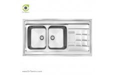 سینک ظرفشویی روکار کن مدل 9022 (60×120 سانتیمتر)