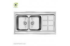 سینک ظرفشویی روکار کن مدل 9032P (120×60 سانتیمتر)