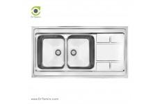 سینک ظرفشویی روکار کن مدل 9052 (60×120 سانتیمتر)