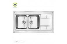 سینک ظرفشویی روکار کن مدل 9052P (120×60 سانتیمتر)