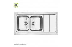 سینک ظرفشویی روکار کن مدل 9062P (120×60 سانتیمتر)