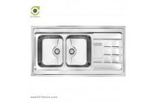 سینک ظرفشویی روکار کن مدل 9022P (120×60 سانتیمتر)