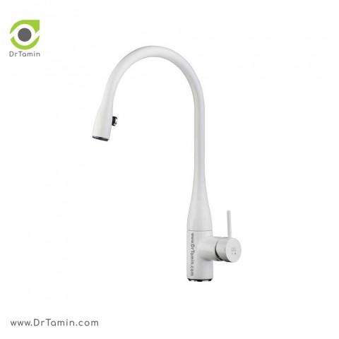 شیر آشپزخانه KWC مدل EVE چراغ دار سفید کد 613011103