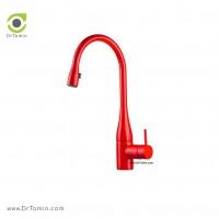 شیر آشپزخانه KWC مدل EVE چراغ دار قرمز کد 613011130