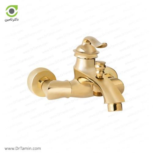 شیر حمام گلپایگان مدل S1 طلایی <br> ( 175-2)