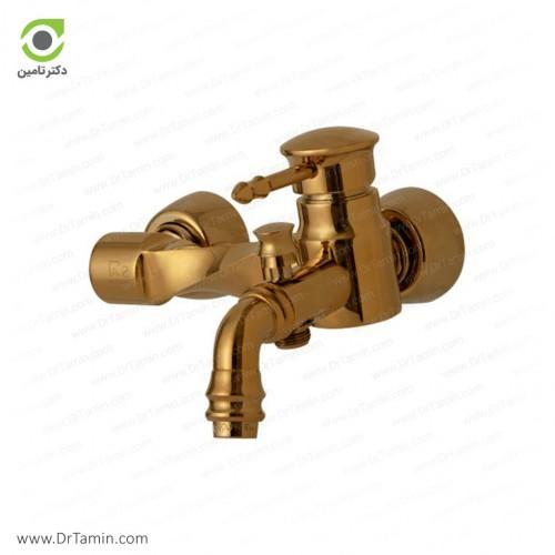 شیر حمام گلپایگان مدل آیسان طلایی <br> ( 182-2)