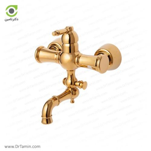 شیر حمام گلپایگان مدل Star طلایی <br> ( 186-2)
