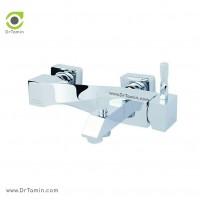 شیر دوش «حمام» ایزی پایپ <br> ( مدل اسپیرال کروم)