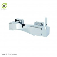 شیر آفتابه «توالت» ایزی پایپ <br> ( مدل اسپیرال کروم)