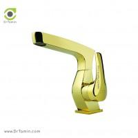 شیر روشویی ایزی پایپ <br> ( مدل جولیتا طلایی براق)
