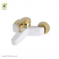 شیر دوش «حمام» ایزی پایپ مدل جولیتا طلا سفید <br> ( GIULIETTA BGI003)