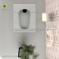 توالت زمینی چینی گلسار مدل نیلوفر 18 درجه 1