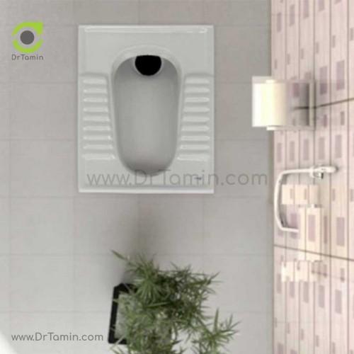توالت زمینی چینی گلسار مدل نیلوفر 18
