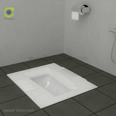 توالت زمینی چینی گلسار فارس مدل آستر درجه 1