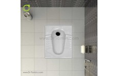 توالت زمینی چینی گلسار فارس مدل آکوا