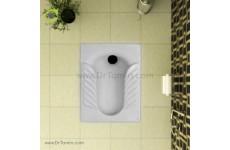 توالت زمینی چینی گلسار فارس مدل یاس