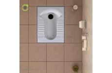 توالت زمینی چینی گلسار فارس مدل پارامیس 18