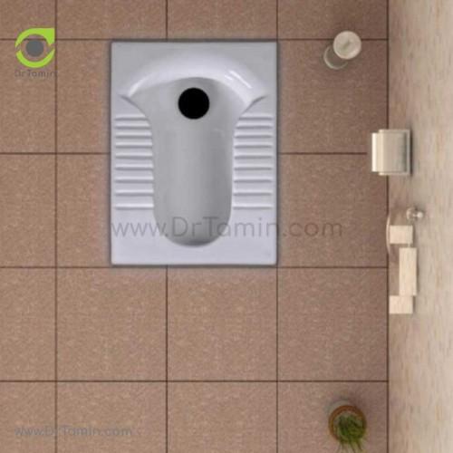 توالت زمینی چینی گلسار فارس مدل پارامیس