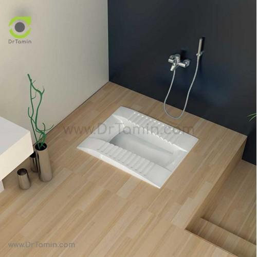 توالت زمینی چینی گلسار فارس مدل لوسیا