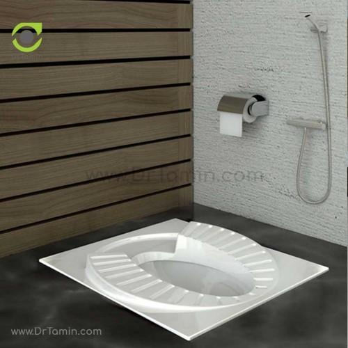 توالت زمینی چینی گلسار فارس مدل پلاتوس